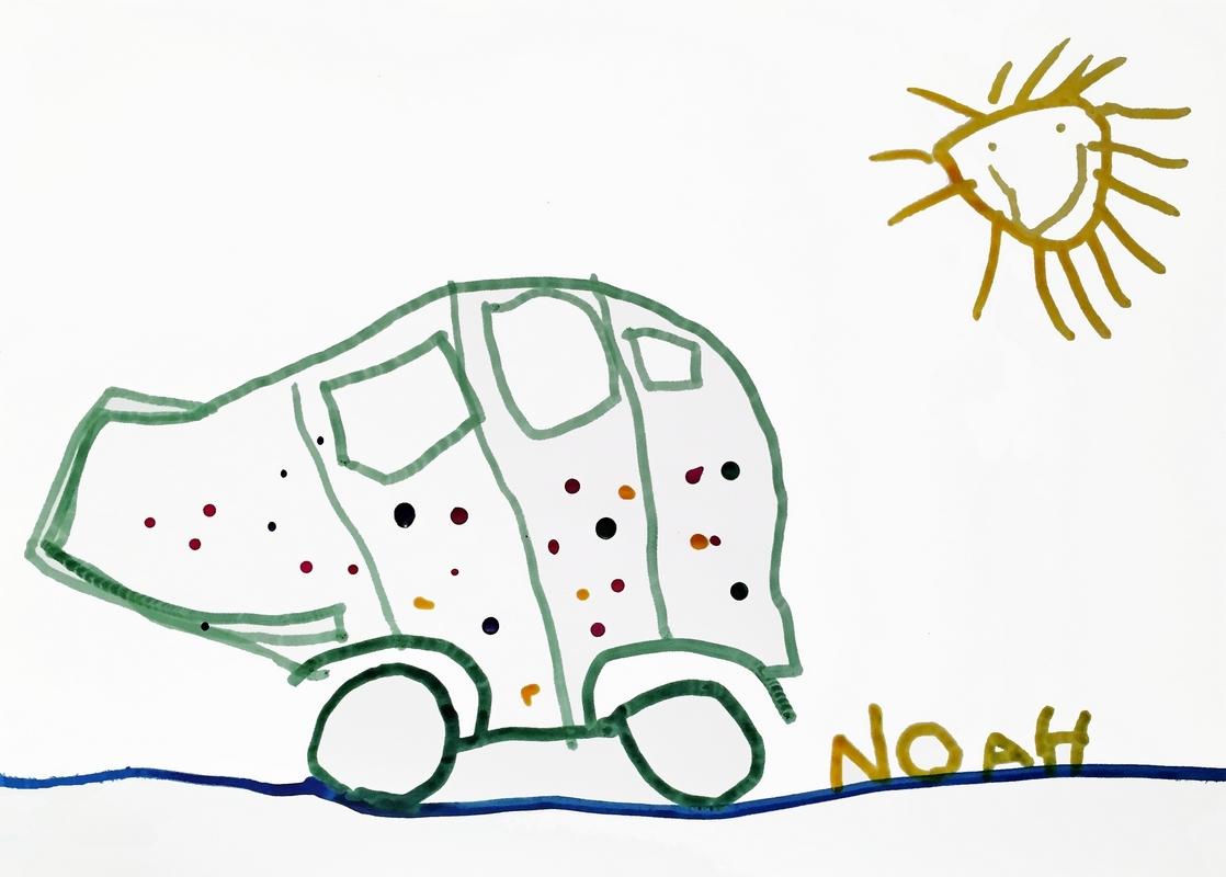 Voiture - dessin de Noah pour Dominique Gerrer - 12 fevrier 2017